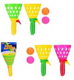 Гра пастка CEL1203048 (240 шт/2) 2 ракетки, 2 м'ячика, 2 кольори мікс, упаковка - 13 * 38 см