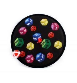 Дартс MR 0521 (120шт) 28см, на липучке, мячик 3,5 см 1шт, дротик, 1 вид, в шарик, 28-28-4см