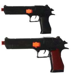 Пистолет S001-002 (216шт) 26см, трещотка, 2 вида, в кульке, 26-16-3см
