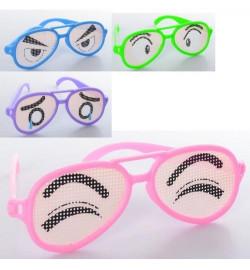 Аксессуары для праздника M 6227 (720шт) очки, принт-глаза, 4 вида / 4 цвета, в кульке, 15,5-5-1,5см