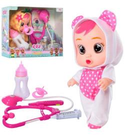 Кукла 621-622 (48шт) CRB, 19см, звук, соска, набор доктора, 2 вида, бат, в кор, 25-22,5-9см