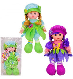 Кукла муз LY3015/6 (64шт/2) 2 вида,поёт песню на англ.языке,мягконабивная,кукла-29см,в пакете 21*35