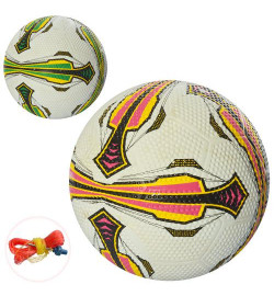 Мяч футбольный VA-0044 (30шт) размер 5, резина Golf, 380-400г, 2 цв,игла, в кульке