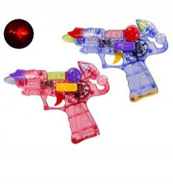 Пистолет 919B-24 (1577177) (360шт / 2) 2 цвета, свет, звук, в пакете 16 * 20.5 см, р-р игрушки - 16