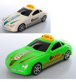 Машина 628-06 (144шт) инер-я, такси, 20см, 2 цвета, в кульке, 20-6-8см