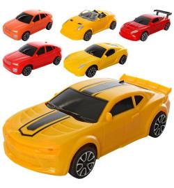 Машина 66-2-3-4-5-6 (180шт) инер-я, 17,5см, 5 видов, в кульке, 8-18-6см