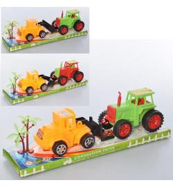 Трактор 855A-8 (96шт) набор 2шт, 1шт-инер-й, 13см, микс цветов, в слюде, 32-10-8,5см