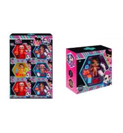 Игровой набор  NC2428 (120шт/2) 6 видов, в наборе куколка+аксессуары, свет в кор. лол lol