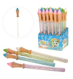 Мыльные пузыри 3815 (144шт) меч-мороженое, 37см, 24шт(4 цвета) в дисплее,25-38-15см