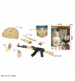 Военный набор оружия D017A с каской и маской свит.кор.46 * 5 * 37/24