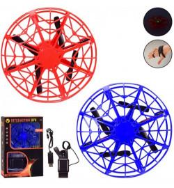 Квадракоптер г / к GY007 (36шт / 2) 2 цвета, управление рукой, свет, кор. 15 * 6.5 * 23 см, р-р игра