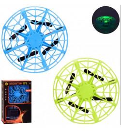 Квадракоптер р/к GY008 (36шт / 2) 2 кольори, управління рукою, світло, кор. 15 * 6.5 * 23 см, р-р і