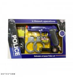Полицейский набор 2085A-1 батар.муз.кор.32 * 4 * 21,5 / 72 /