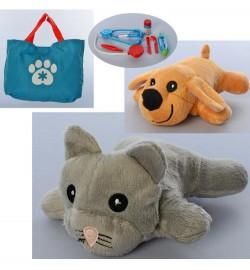Животное 118-104A-104B (36шт) 18см, плюшевая, сумка, стетоскоп, инструменти, микс видов