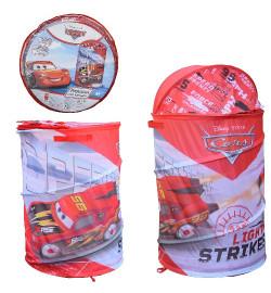 Корзина для игрушек D-3508 (24шт)  Cars, в сумке – 49*49*3 см, р-р игрушки – 43*43*60 см