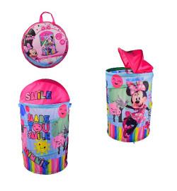 Корзина для игрушек D-3510 (24шт)  Minnie Mouse в сумке – 49*49*3 см, р-р игрушки – 43*43*60 см