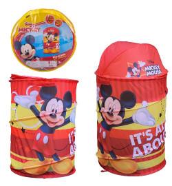 Корзина для игрушек D-3511 (24шт)  Mickey Mouse в сумке – 49*49*3 см, р-р игрушки – 43*43*60 см