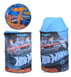 Корзина для игрушек D-3517 (24шт)  Hot Wheels в сумке – 49*49*3 см, р-р игрушки – 43*43*60 см