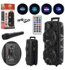 Колонка LT-2805 (4шт) 8дюйм(2шт),пульт (д/у, ИК),аккум,3,7V2200AH,микрофон,свет,кор,26-23-59,5см