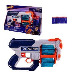 Бластер  7053-1(24шт) с поролон.снарядами, в откр. кор. – 40*6.5*27 см, р-р игрушки – 30 см