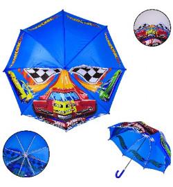 Детский зонт Hot Wheels PL8207  (60шт) полиэстер, р-р трости – 59 см, диаметр в раскрытом виде – 70