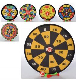 Дартс MR 0352 (72шт) 36см, на липучке, мячики 2шт, дротики 2шт, 6 видов, в пакете, 36-3,5-36см