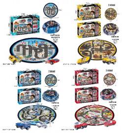 Игровой коврик 6688-153ABCD (48шт/2) 4 вида, машинки, собирается в мешок, в коробке - 41*25*4,5см