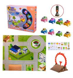 Игровой коврик RT001-3 (48шт/2)2 вида микс, игровое поле,4 машинки, 20 аксессуаров, в кор. – 30*7*2