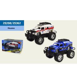 Машина. 25J58/25J62 (24шт/2) 2 вида,в кор. 32*20*20 см, р-р игрушки – 30*19*19.5 см
