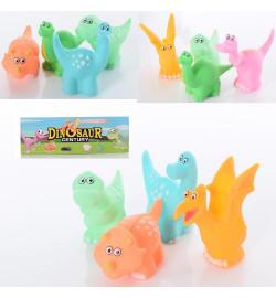 Игрушка для купания 698-D1-2 (90шт) динозавр, 4шт, 8см, пищалка,микс видов, в кульке, 16-20-3см