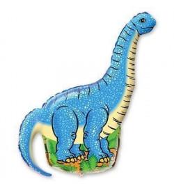 1206-0112 Шарик КП Ф М / ФИГУРА / 3 Динозавр голубой (ФМ)