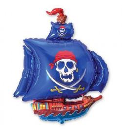 1206-0390 Шарик Ф М / ФИГУРА / 3 Корабль пиратский синий