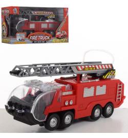 Пожарная машина SY755-756 (24шт) 24см,ездит,звук,свет,брызг.водой,2вида,бат,в кор-ке,27,5-13,5-9см