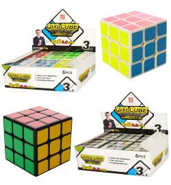 Кубик рубик EQY520 (144шт) 6см, в кульке, 2вида, 6шт в дисплее,18,5-12,5-7см