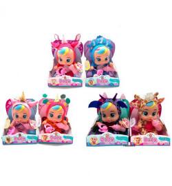 Кукла 3666-106-107-108 (48шт) CRB, 19см,бутылочка,соска,звук,бат,6 видов, в кор-ке, 15,5-20,5-10с