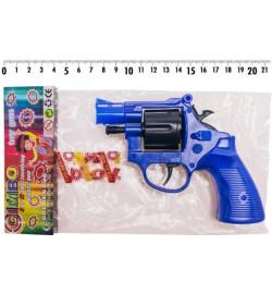 Револьвер 116 (132шт) под пистоны,в комплекте один пистон на 8 выстрелов,р-р ирушки 13*11см, в пак