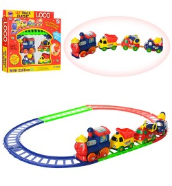 Железная дорога 19016B (96шт/2) детский паровозик, в коробке 26*24*4см