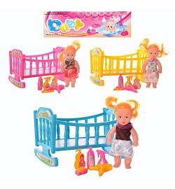 Кукла 339-1/2214 (144шт) 2шт, с колясой, в кульке, 27см