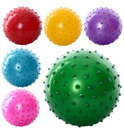 М'яч масажний MS 0663 (550шт) 30гр, 5 дюймов, 6 кольорів