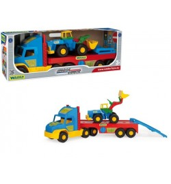 Super Truck з трактором машинка трейлер