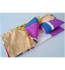 Набор постельный для кукольной  кроватки под размер 25*45см состоит из 3 предметов(одеяло, подушка,