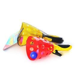 Ловушка M 2019 (72шт) стреляет шариками, шарики 2шт, 2 цвета, в сетке, 37-15,5-12см запускалка
