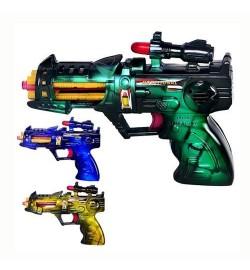 Пистолет 215 (288шт) муз, в кульке, 17-12см