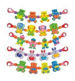 Брязкальце 6348-56-82-78-52 A (288шт) розтяжка на коляску, 6 видів, в кульку, 39см