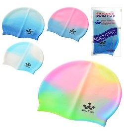 Шапочка для плавання MS 0182 (144шт) 4 кольори, в сумочці, 19-11см